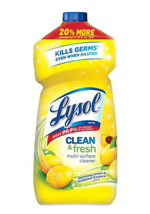 Lysol Clean & Fresh Multi-Surface Cleaner, Clean & Fresh Lemon, 40 oz