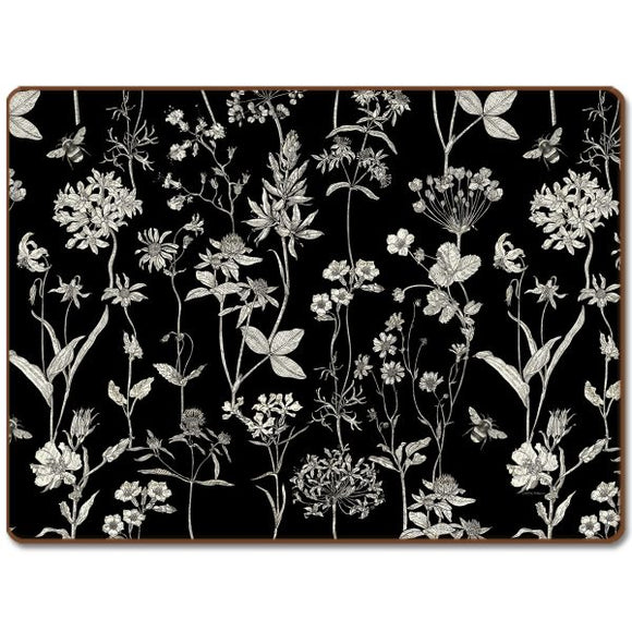 Cala Home Hardboard Placemat – Midnight Garden – Boxed 4 Pack