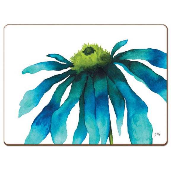 Cala Home Hardboard Placemat – Watercolor Flower – Boxed 4 Pack