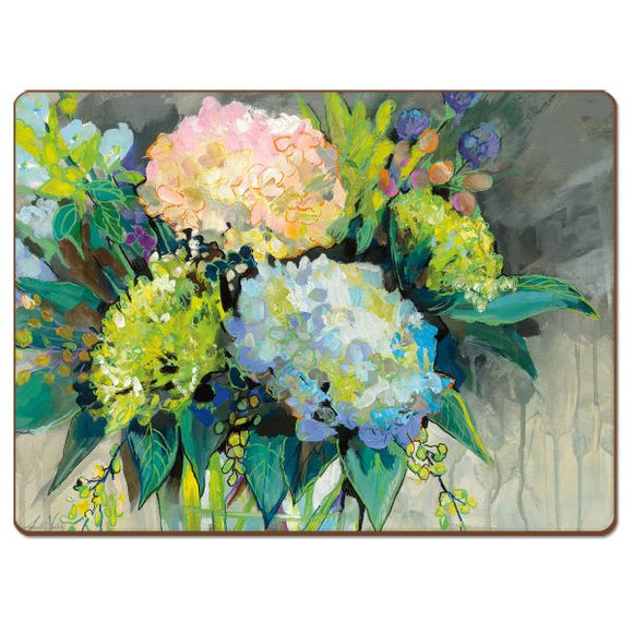 Cala Home Hardboard Placemat – Hydrangeas from the Garden – Boxed 4 Pack
