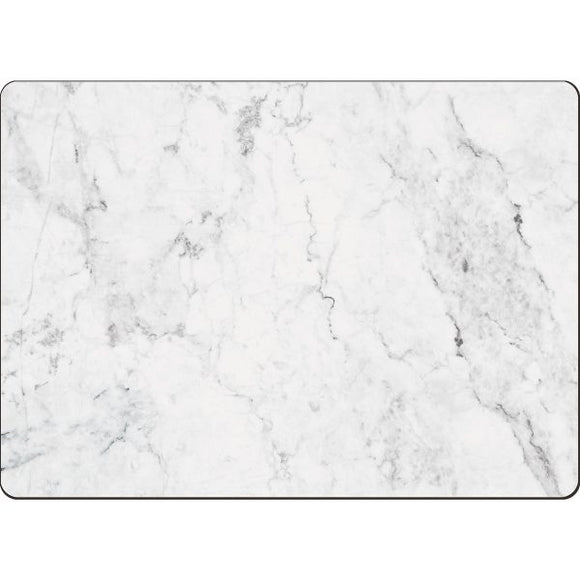 Cala Home Hardboard Placemat – White Marble – Boxed 4 Pack