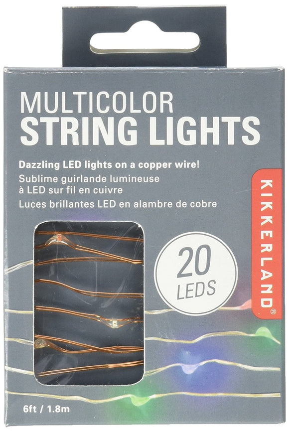 Kikkerland Copper String Lights – Multicolor
