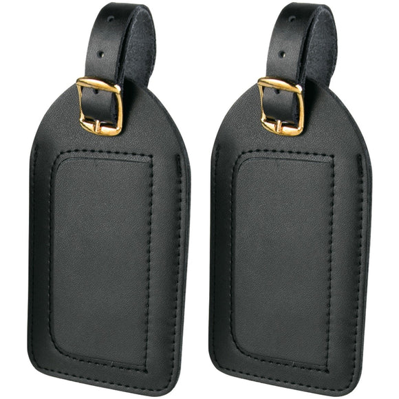 Travel Smart Vinyl Luggage Tags – 2 pack Black
