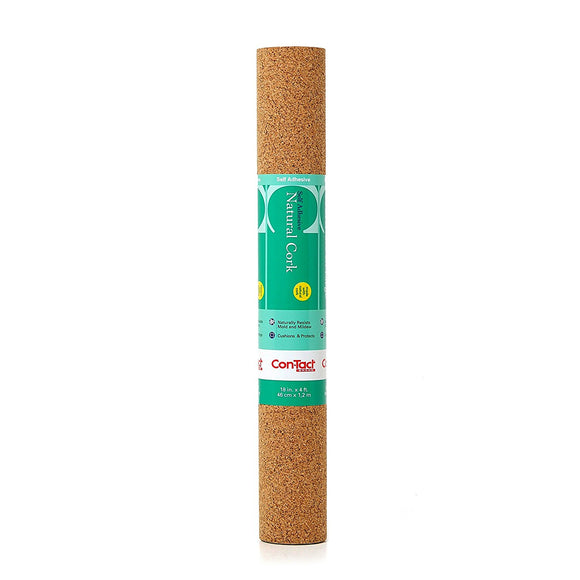 Self-Adhesive Natural Cork Shelf Liner – 18