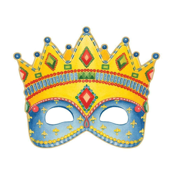 Crown Mask Die-Cut Birthday Card – 1 Card & 1 Envelope