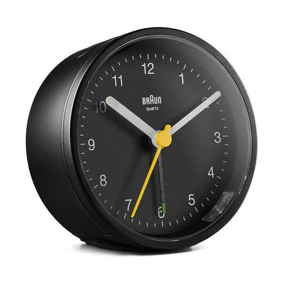 Braun Classic Alarm Analogue Clock – Black/Black