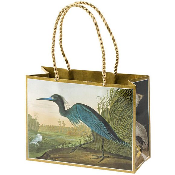 Caspari Audubon Birds Small Gift Bag
