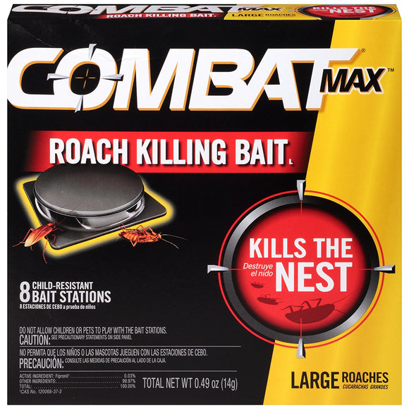 Combat Max Large Roach Killing Bait Stations, 8 ct