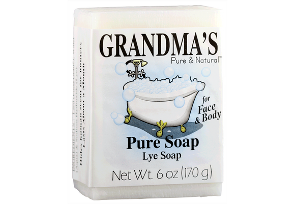 Grandma's Pure & Natural Lye Soap – 6 oz