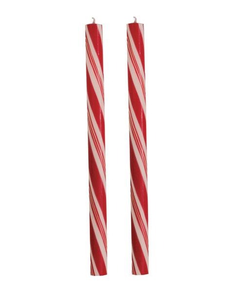 "Dadant Holiday Stripes Candy Cane Candles – 12"" – 2pk"