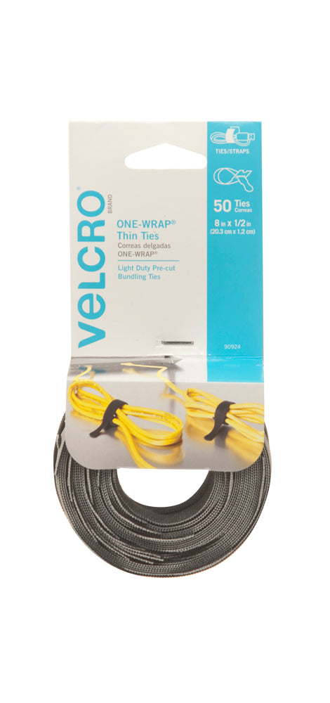 VELCRO® One-Wrap Thin Pre-cut Ties