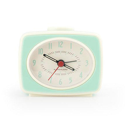 Kikkerland Retro Alarm Clock – Mint