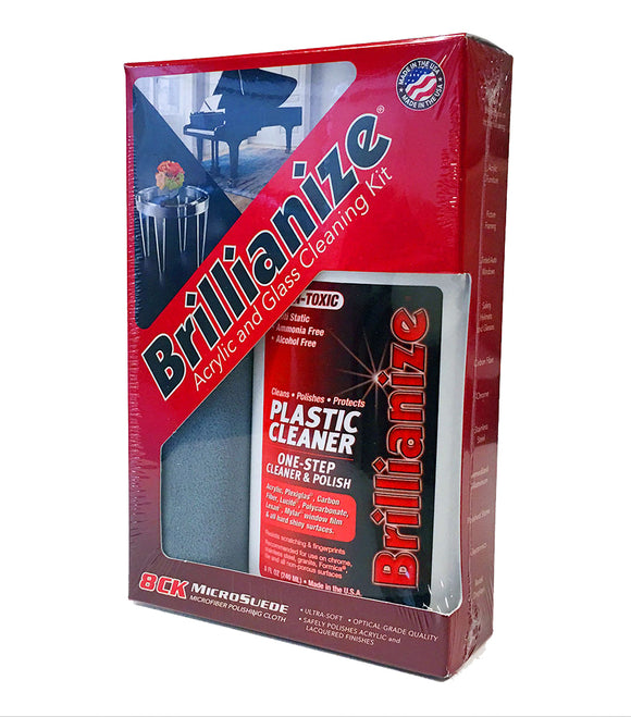 Brillianize Acrylic / Glass / Plastic Cleaning Kit
