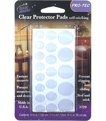 Magic Mounts Clear Protector Pads – Assorted Sizes