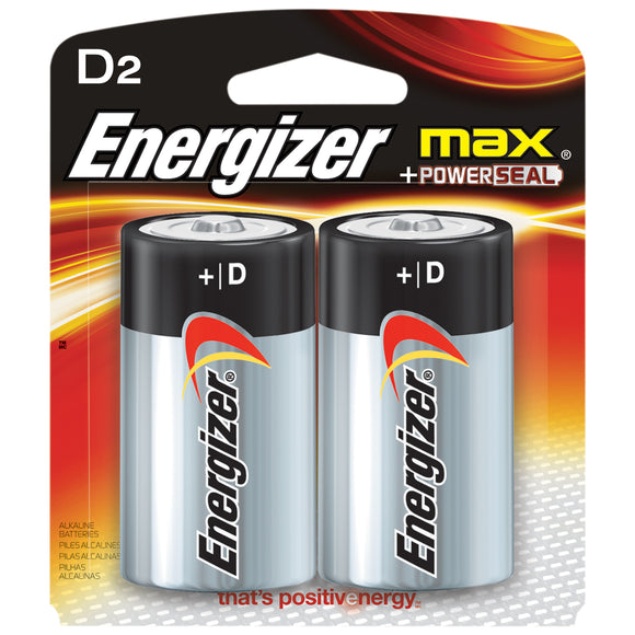 Energizer Max D Battery – 2 Pack