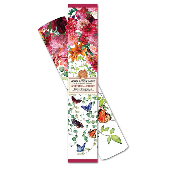 Sweet Floral Melody Scented Drawer Liners