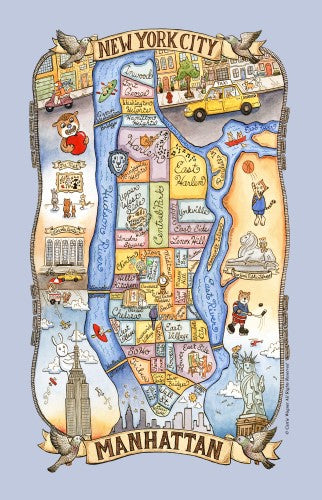 Kay Dee Designs Poster Style Cotton Tea Towel – Manhattan Adventure