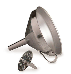 Deluxe Stainless Steel Funnel + Strainer