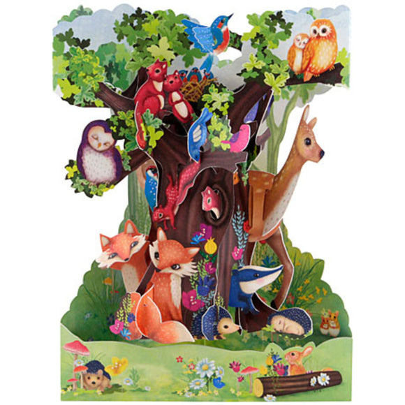 Santoro Forest Animals 3D Swing Card – 1 Card & 1 Envelope