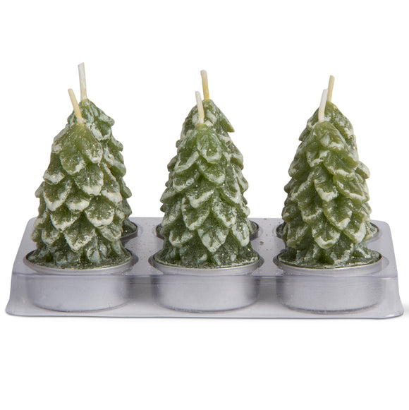 Spruce Tea-light Candles – Set of 6