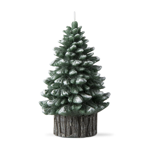 Spruce Rustic Tree Candle