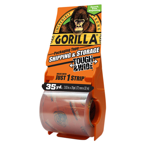 Gorilla Packaging Tape Tough & Wide - 35 yd.