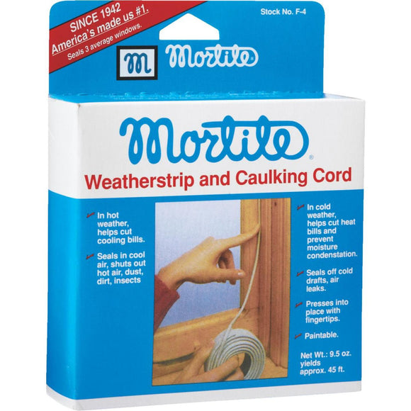 Mortite Weatherstrip & Caulking Cord – 45ft – Grey