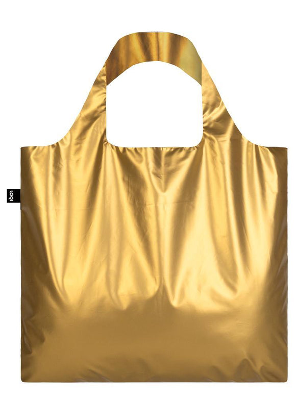 LOQI Reusable Tote Bag – Metallic Matt Gold