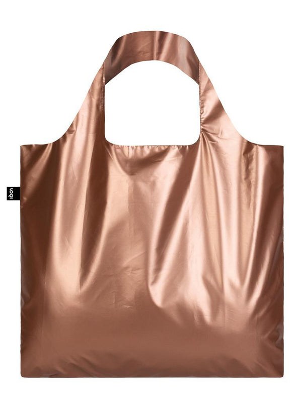 LOQI Reusable Tote Bag – Metallic Matt Rose Gold