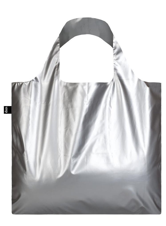 LOQI Reusable Tote Bag – Metallic Matt Silver