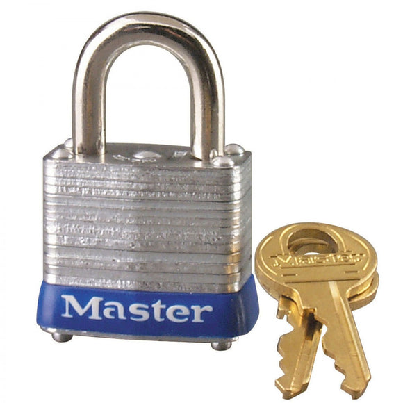 Master Lock Laminated Steel Padlock with 2 Keys – 1-3/4