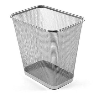 Design Ideas Meshworks Wastebasket – Silver