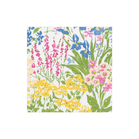 Caspari Meadow Flowers Cocktail Napkins - 20pk