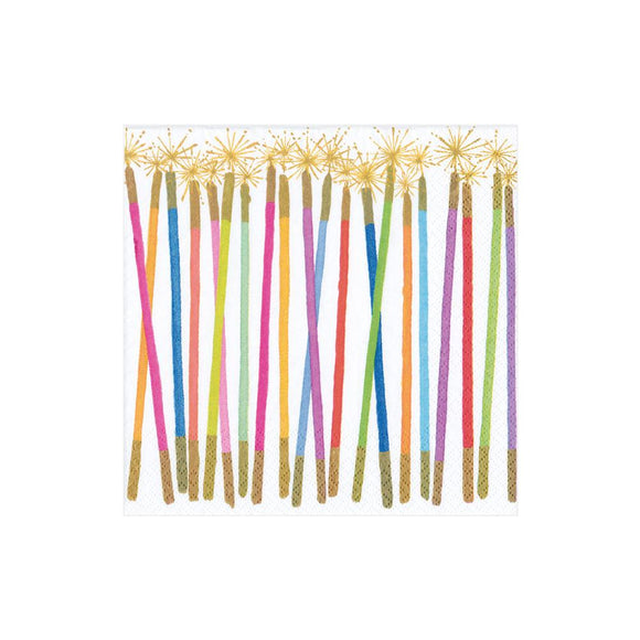 Caspari Party Candles Cocktail Napkins - 20pk