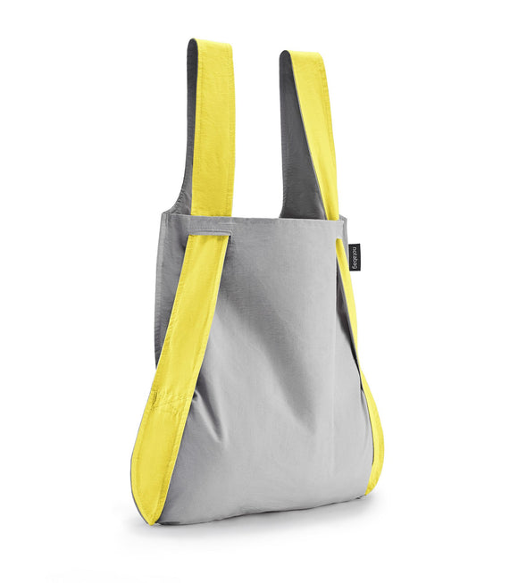 Notabag Convertible Tote Backpack – Yellow/Grey
