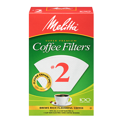 Melitta #2 Coffee Filters – 100 Count