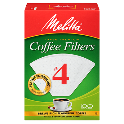 Melitta #4 Coffee Filters – 100 Count