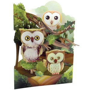 Santoro Owls 3D Swing Card – 1 Card & 1 Envelope