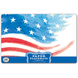 Red White & Blue Paper Placemats