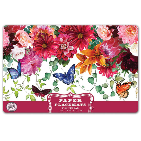 Sweet Floral Melody Paper Placemats