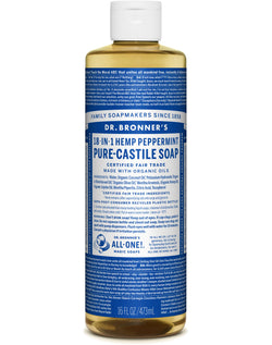 Dr. Bronner's Pure-Castile Liquid Soap – Peppermint 16oz