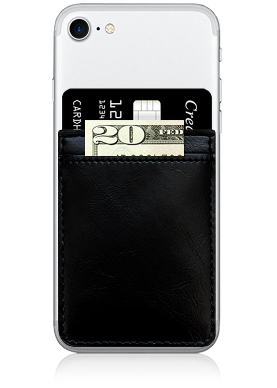 iDecoz Leather Phone Pocket – Black
