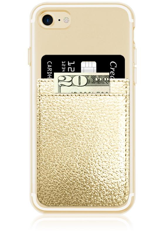 iDecoz Leather Phone Pocket – Gold