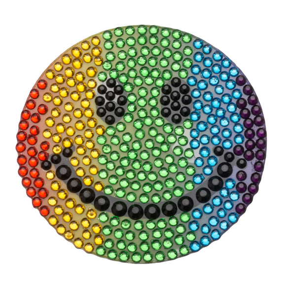StickerBeans Rainbow Smiley Face Sparkle Sticker – 2