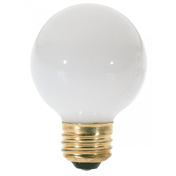 G18 1/2 Incandescent Medium Base Globe Light Bulb – Gloss White