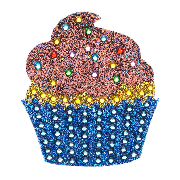 StickerBeans Chocolate Cupcake Sparkle Sticker – 2
