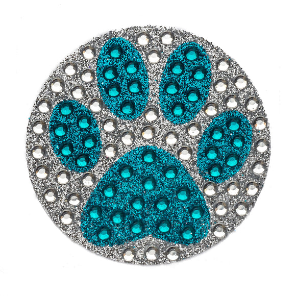 StickerBeans Blue Paw Sparkle Sticker – 2