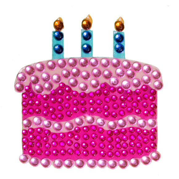 StickerBeans Birthday Cake Sparkle Sticker – 2