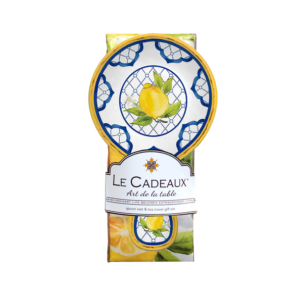 Le Cadeaux Spoon Rest With Tea Towel Gift Set – Palermo