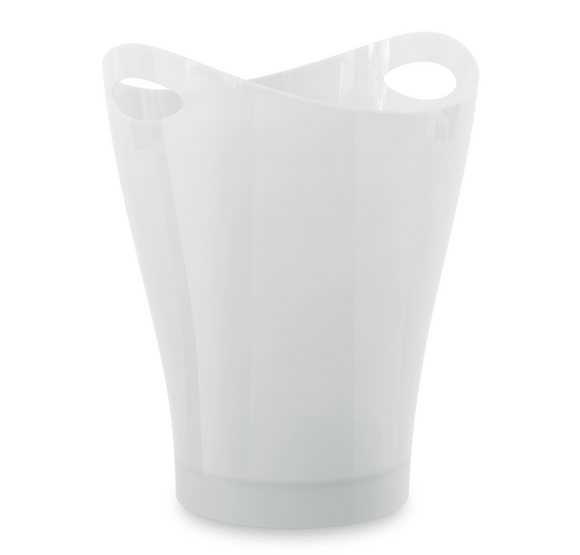 Umbra Garbino Trash Can– White – 2.25 Gallon